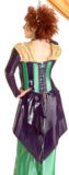 Custom Latex Outfit with Peplum & Striped Bodice Corset