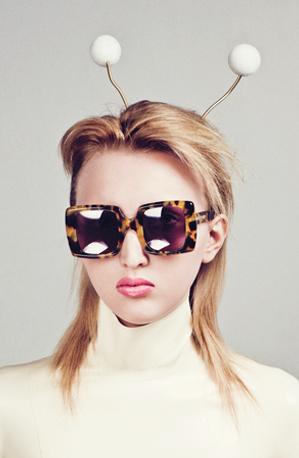 Karen Walker Eyewear featuring Baroness Latex
