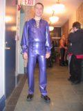 Latex Rubber 2-Zip Pants for Men