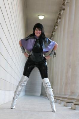 Custom Latex Super-heroine outfit