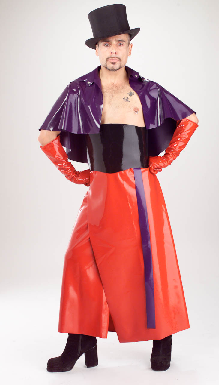 Mens Custom Latex Gaucho Pants - Latex Rubber Clothing -4974