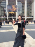 Lady Thera goes to the opera wearing Latex Hedy Lamarr Top