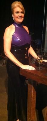 Mistress Kalliope in Custom Latex Dress
