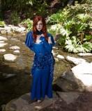 Latex Myrna Loy Dress in Blue