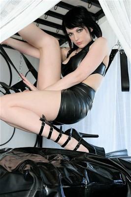 Latex Hobble skirt & Latex Halter Top