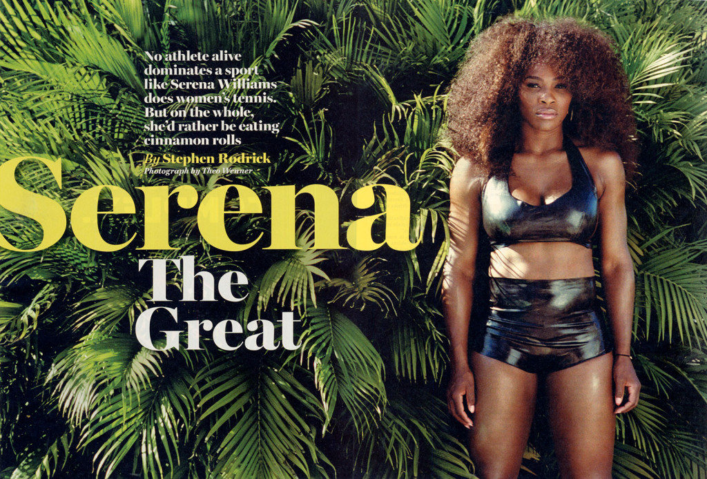 Serena Williams Wears The Baroness Latex Halter Top and Latex Knickers