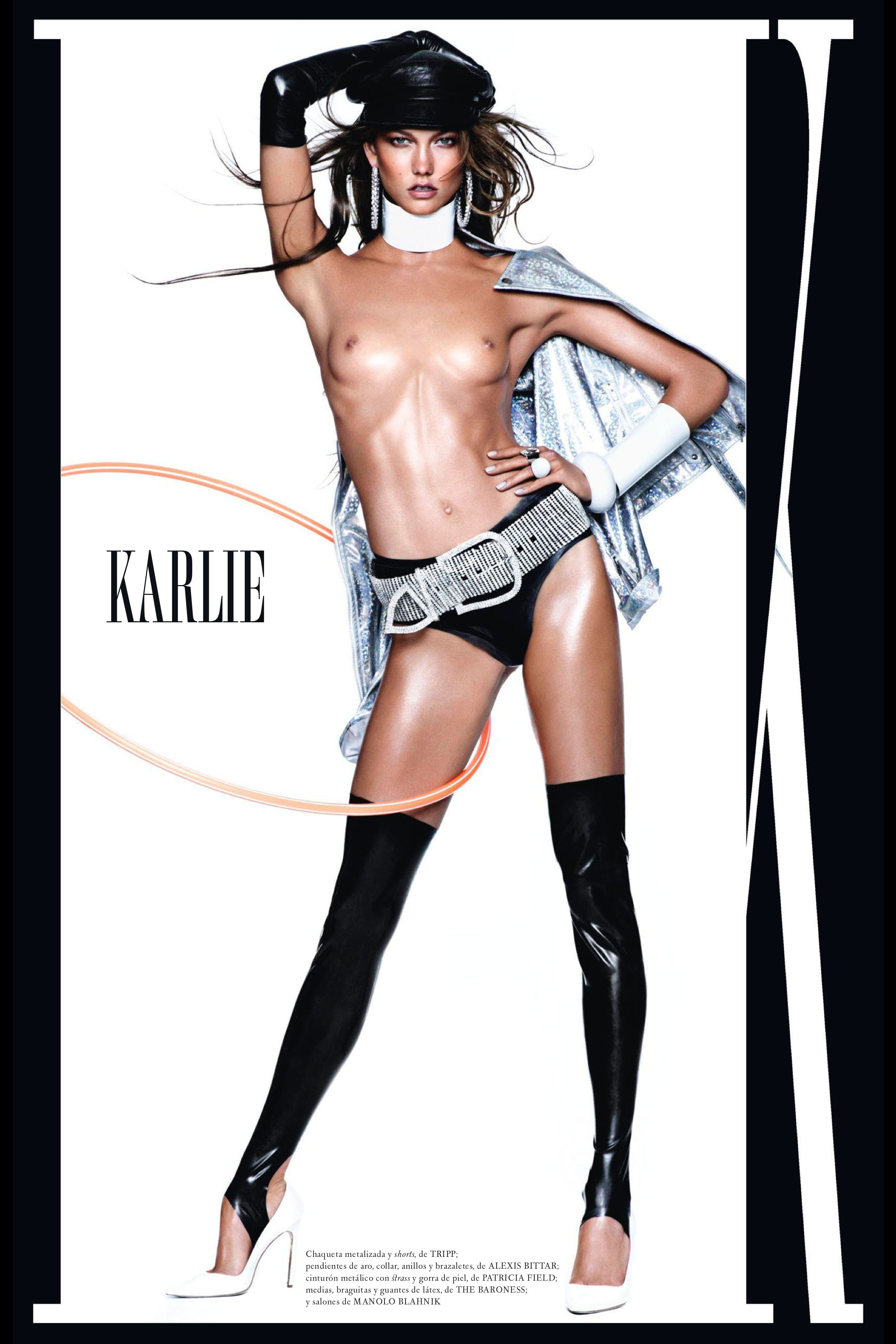 Latex Leggings, Briefs And Opera Gloves In Vogue Espaa -1260