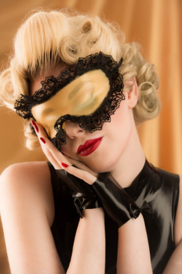 Latex Sleep Mask doubles as Blindfold