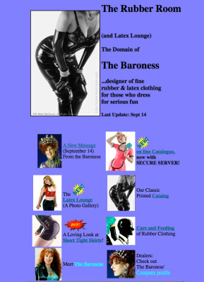 Early Baroness.com screenshot