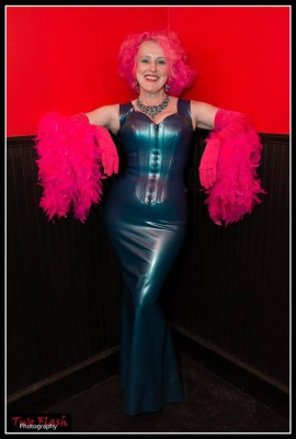 The Baroness at the 2014 Feather Ball