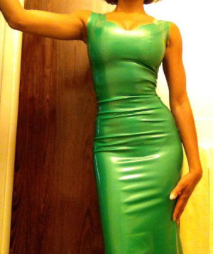 Latex Evening Gown by The Baroness