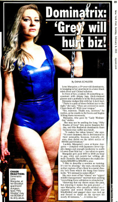 Latex Top & Knickers in the New York Post