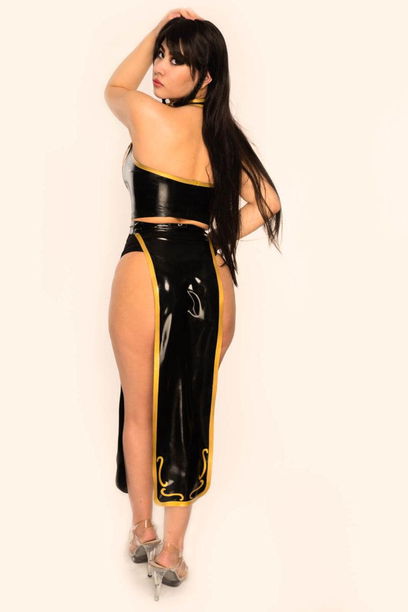 custom latex Chun-Li Costume by The Baroness