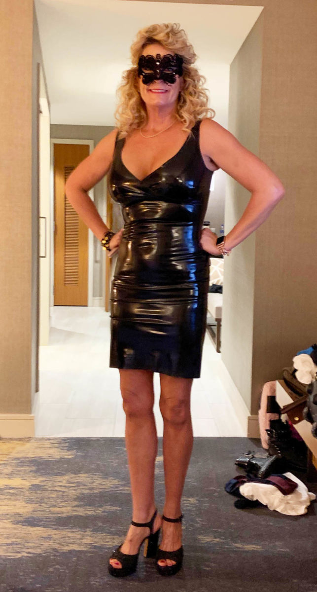 Latex Rubber Jean Harlow Dress Dress