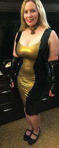 Latex Femme Fatale Dress